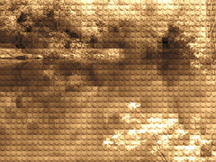 sepiadigi (William Keckler) Tags: green art sepia digital spring stream lego abstractart digitalart pixelart abstraction pixels streaming legoart sepialandscape digitallandscape digiscape springlandscape digitalstream legograph