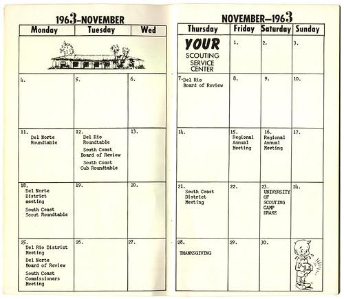 Calendar September 1963 August 1964 Mission Council Bsa Santa