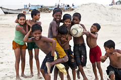 River-side Kids (Tipu Kibria~~BUSY~~) Tags: girls boy portrait people boys wet girl childhood kids canon river children fun happy eos football kid bath village child faces innocent smiles lifestyle villagekids bangladesh padma cite mawa canonef70200mmf4lisusm canoneos5dmarkii munsigonj