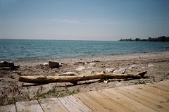 Summer on the boardwalk (maplenut) Tags: toronto colour beach 200asa driftwood yashicat5 80s beaches boardwalk lakeontario kodakgold blogto torontoist