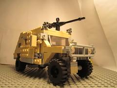 Lego Humvee (old) (jacktheaweome10) Tags: modern gun lego iraq machine combat 50 hummer humvee caliber warfare jacktheawesome10