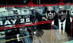 imax 3d (Harry Halibut) Tags: blue red reflection bus london film yellow coach may 25 advert allrightsreserved imax3d colourbysoftwarelaziness 2012andrewpettigrew london1206100748