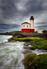 Lighthouse Storm (Darren White Photography) Tags: sky lighthouse storm clouds landscape waves scenic bandon coquille southernoregoncoast darrenwhite coquillelighthouse oregontravel traveloregon darrenwhitephotography southernoreogn