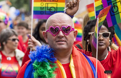 The double hearted gay look (Tjook) Tags: gay people oslo norway rainbow glbt pride identity worldwide homosexual queer gender 2012 stolt colourfull kjnn dager skeive skeiv identitet paraden kjnnsidentitet kjnnsuttrykk kjnnsrolle