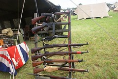 British/US Weapons of WW2 (MJ_100) Tags: show soldier army us fight war gun display leicestershire military rifle battle american weapon ww2 british sten smg reenactment thompson reenactor enfield cosby secondworldwar worldwartwo tommygun 2011 smle homeguard leeenfield submachine smallarms drummagazine victoryshow