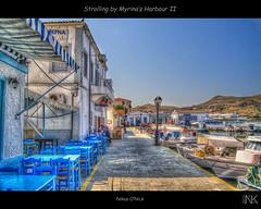 Strolling by Myrina's Harbour II (Nikos O'Nick) Tags: blue sea fish boats island nikon harbour hellas nikos greece hdr limnos lemnos photomatix tavers myrina νησί λιμάνι μύρινα d300s λήμνοσ νίκοσ ψαροταβέρνα kotanidis κοτανίδησ