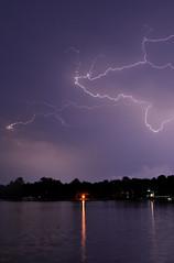 Stormy Night (rwalstrom) Tags: light cloud lake storm nature water minnesota night dark evening scary stormy eerie creepy spooky lightning