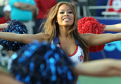 Cheerleaders at tennis matches, that's nice. (blightylad1) Tags: usa washington districtofcolumbia tennis cheerleader pompoms kingcup blueandred wtt worldteamtennis newyorksportimes sportimes washingtonkastles kastles thewharfstadium