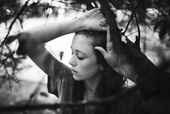 2/52 (Trent_Nobles) Tags: trees blackandwhite girl beautiful rain sadness dirt trenchmouth angelaroyer