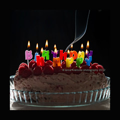 happy birthday-2 (stella-mia) Tags: norway backlight candle birthdaycake happybirthday candlelight highlight 2470mm canon5dmkii annakrmcke krmcke