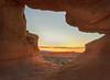 Arched Sunset (Photography by Steven Frudak) Tags: sunset climb utah nikon arch redrock overlook delicatearch multiexposure leadinglines archesnatioanlpark wwwstevenfrudakcom