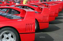 Ferrari F40's (Hipwell Photography) Tags: red classic ferrari collection silverstone 25 record years 70 2012 f40 silverstoneclassic ferrarif40 paradelap hipwellphotography