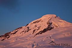 Sleeping Giant (AlpineEdge) Tags: winter sun mountain snow ice volcano evening hiking top peak climbing summit mtbaker alpenglow northcascades cascademountainrange crevas coldtemperature mtbakerforest