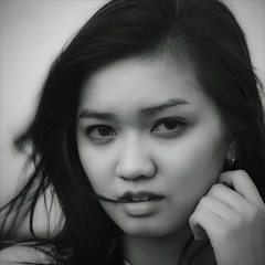 Mysterious look [ EXPLORED ] (-clicking-) Tags: girls portrait blackandwhite bw monochrome beautiful beauty look hair square blackwhite eyes asia mood faces emotion charm headshot vietnam squareformat mysterious feeling lovely charming visage nocolors 500x500 glamous vietnamesegirls bestportraitsaoi