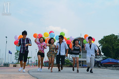 Ben, Ivy, Belle, Tan, Alicia & Derek (Alphone Tea) Tags: life pink blue girls light shadow portrait sky favorite orange sun white motion black green art beautiful smile composition contrast speed pose walking fun happy photography daylight photo amazing model colorful asia pretty floor bright wind bokeh modeling outdoor walk great balloon models chinese perspective young running peoples explore malaysia laugh lovely staring 2012 1755 belon dangabay 60d printred