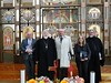 """The delegation which greeted the Ambassador at the Cathedral included  Fr Alex Kenez, Fr Felix Figurek, Mrs Maru Jarockyj, and Mr Stefan Romaniw, along with Bishop Peter Stasiuk • <a style=""""font-size:0.8em;"""" href=""""http://www.flickr.com/photos/66536305@N05/7640861018/"""" target=""""_blank"""">View on Flickr</a>"""