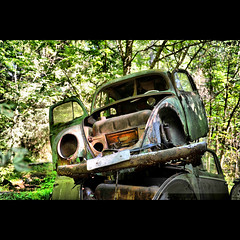 Green Beetle (geirkristiansen.net.) Tags: old red white bus tree classic abandoned nature graveyard trash forest vintage lost moss woods junk rust moody ride sweden decay interior secret exploring wheels picture rusty explore forgotten rusted vegetation bil vehicle sverige rotten wreck derelict vestre trespassing urbanexploring ue interestingplaces skrot urbex carcemetery gammel rusten tapt tcksfors forlatt forfall steder delagt smashedup glemt bstns d700 naturetakesback fgelvik nikond700 2470mmf28g forlatte bilkirkegrd vstrafgelvik forlattesteder portraitofaclassic