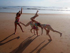 Cartwheel multiplicity (daveelmore) Tags: ocean morning family summer vacation copyright beach daughter atlantic multiplicity daytonabeach cartwheel allrightsreserved daveelmore