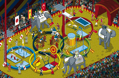 Five Ring Circus - 2020 Olympic Games Feature Illustration for Podium Magazine by Rod Hunt (Rod Hunt Illustration) Tags: illustration vectorart rings podium pixel pixelart illustrator olympics vector olympicgames olympicrings editorialillustration rodhunt podiummagazine