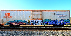 Dekor Mech ETC (Hunter Photography !) Tags: usa america train graffiti etc freight mech dekor benching