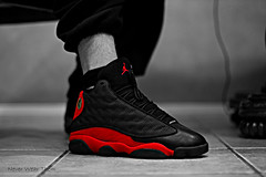 blk/wht (Never Wear Them) Tags: red black 2004 basketball cat michael shoes you air nike retro wear jordan what did 13 today panther bred xiii wdywt jordan13bred