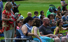 Red  Ukulele (Chris Skrundz) Tags: park old school summer people music public town illinois ukulele folk event lesson teach instruction chicao welles towne