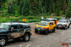 FJ Summit (Evan Gage) Tags: red jeep fj summit ouray colorado toyota tacoma vsco canon 5dm2 mountains trails adventure pass