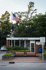 Post Office, Glen Arbor (pantagrapher) Tags: post office glen arbor michigan sleeping bear dunes american flag pow mia nikon d600