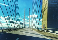 Crossing boarders - Day 39 (wiedenmann.markus) Tags: travel highway ontheroad drive summer malm cooenhagen water bridge denmark sweden oeresund