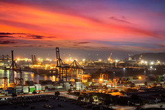 Laemchabang Port (Patrick Foto ;)) Tags: background bangkok boat business cargo chonburi city commerce concept construction container crane delivery dock dusk export frame freight freighters global harbor harbour high import industrial industry laemchabang lift loading logistics machine manufacturing pier port sea ship shipping shipyard sky storage structure technology terminal thailand town trade transport transportation unloading vessel warehouses water work changwatchonburi th