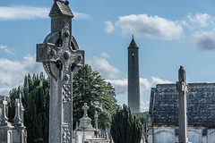 VIEW OF THE OCONNELL TOWER [GLASNEVIN CEMETERY]-120287 (infomatique) Tags: oconnelltower danieloconnell glasnevin cemetery roundtower georgepetrie graveyard irishhistory memorial streetsofdublin williammurphy infomatique fotonique sony a7rm2