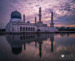 """Floating Mosque"", Kota Kinabalu, Borneo (melvinjonker) Tags: borneo sabah kota kinabalu sun sunrise reflection reflections waterreflection mosque floating travel travelphotography architecture sky beautiful beautifuldestinations amazing colours colorful asia malaysia sony sonyalpha sonya58 wanderlust earthpics"