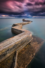 Outpost (Pete Rowbottom, Wigan, UK) Tags: scotland longexposure longexposurelandscape fife eastneuk stmonans pier jetty leefilters nikond750 peterowbottom drama dramatic dramaticsky stillsea sea ocean firthofforth slowshutterspeed clouds cloudmovement stormclouds seastorm harbour shore coast coastline uk uklandscape ukcoast ukcoastline ukseascape portrait evening surreal breakwater landmark fishingvillage