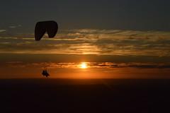 DSC_1714 (justinecharrel) Tags: sunset coucher de soleil auvergne france puydedome volcan montagne nature landscape paysage colors orange red blue sky clouds sun parapente parasailing nikon nikond3200 out