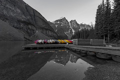 Colored Canoes (Ken Krach Photography) Tags: lakemoraine
