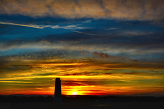 Painted sky (Dancin K & H) Tags: leasowe lighthouse wirral cheshire painted sky sunset orange