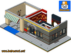 GHOSTBUSTERS CHINESE RESTAURANT SAMPLE 03 (baronsat) Tags: lego chinese restaurant ghostbusters custom instructions