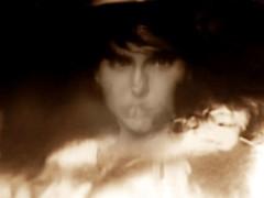 2016-08-22 portrait soluble (7)f (april-mo) Tags: soluble portrait experimentaltechnique experimental creative foil distortions reflection art woman womanportrait monochrome solubleportrait