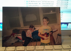 My little brother Kevin - his Ukulele Prodigy Phase (ex_magician) Tags: kevin ukulele childhood boyhood oaklawn kathleen antennamuch kevinmccullough chicago illinois moik photo photos picture pictures image lightroom adobe adobelightroom