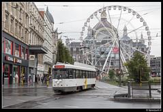 DL 7018 - Koningin Astridplein (Spoorpunt.nl) Tags: 21 augustus 2016 pcc wagen 7018 de lijn koningin astridplein the view reuzenrad 12 antwerpen centraal station