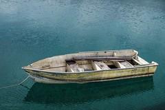 Patagonia Argentina. Lago Nahuel Huapi. (Fer-B.) Tags: blue yellow lake peceful boat 50mm d610 nikon peaceful paradise beauty serene reflection water outdoor argentina patagonia lagoon sea decay floating clear virgin