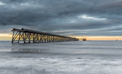 Light At The End Of The Pier (Steven Peachey) Tags: steetleypier hartlepool uk northeastengland northeastcoast ef1740mmf4l canon6d leefilters lee09gnd lee06gnd lightroom5 stevenpeachey canon coast sky clouds beach sea backwash wideangle fullframe lowlight