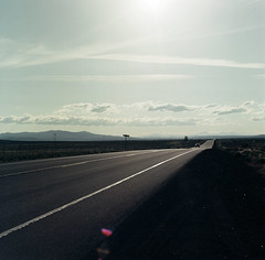 (el zopilote) Tags: brothers oregon easternoregon landscape roads signs clouds powerlines hasselblad 500cm carlzeiss planarcf80mmf28t zv mediumformat kodak ektar film 120 6x6