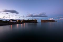 Rocher (VLetrmx21) Tags: perc quebec rockperc rocherperc sunset twilight longexposuretime sea water landscape