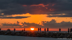 Golden Hour (Explored 2016.09.23) (DonMiller_ToGo) Tags: sunsetmadness sunsets nature goldenhour d5500 clouds sun silhouettes gulfofmexico seascapes outdoors onawalk rocks sky sunsetsniper jetty southjetty sunset florida