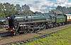 BR Class 7 No. 70013 'Oliver Cromwell' arriving at Quorn & Woodhouse Station [GCR] (soberhill) Tags: great central railway gcr leicester loughborough quorn woodhouse station br class7 70013 olivercromwell 2016 locomotive