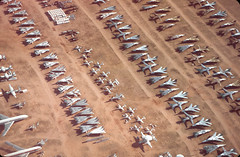 Area 21 or 23 (Al Henderson) Tags: grumman storage generaldynamics boneyard amarc lockheed tomcat davismonthanafb usaf aviation f111 military t33 arizona f14 e2 hawkeye aardvark tucson unitedstates us