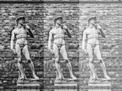 David (Ada Romare) Tags: firenze florence david michelangelo renaissance rinascimento copy sculptor art piazza della signoria beauty italy bw