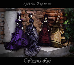 Women's Life (AyuAna) Tags: bjd ball jointed doll dollfie ayuana design handmade ooak dress set clothing clothes victorian historical style