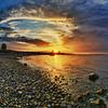 Nr. 3 (dubdream) Tags: ocean sunset sea sky sun tree beach water clouds germany landscape boat nikon rocks meer shoreline balticsea ostsee hdr schleswigholstein d300 colorimage dubdream